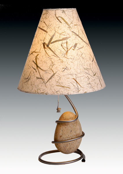 spiral table lamp with one stone