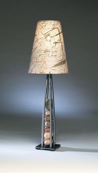 stacked stones table lamp 3.5″ base