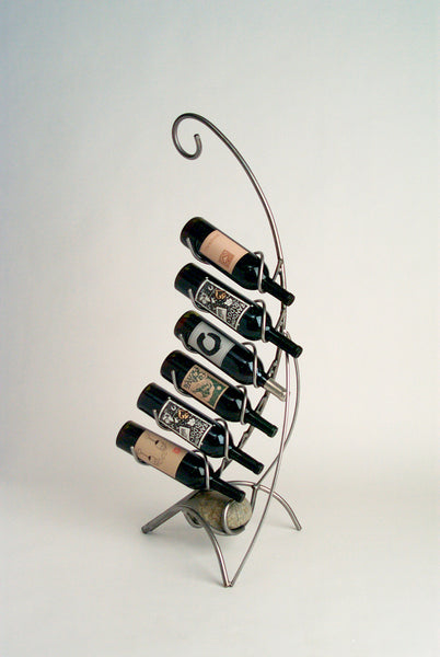 6 places floor wine bottle holder