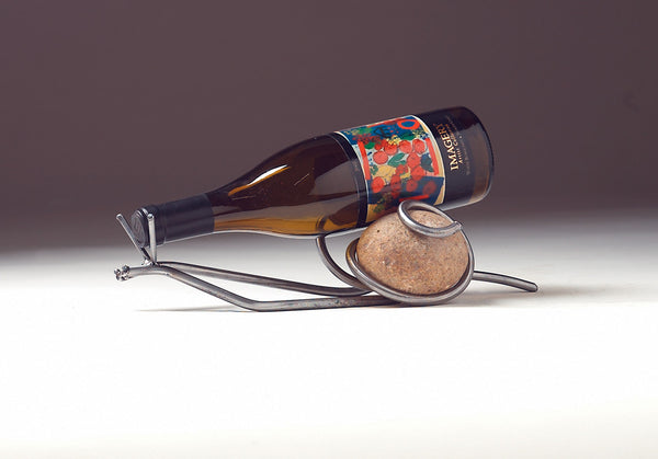 snail table wine holder for one bottle