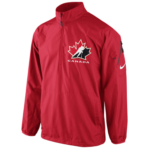 Team Canada Nike Knit Coach Half-Zip - Red - teamcanada - 1