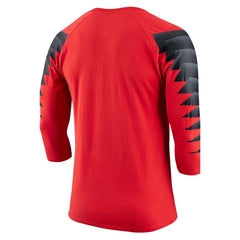 Team Canada Nike 2018 Olympic Red Raglan Tee
