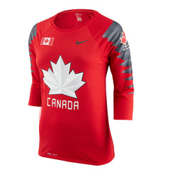 Team Canada Nike Women's 2018 Olympic Red Raglan Tee