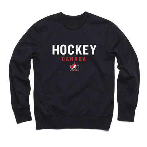 Team Canada Black Adult Crewneck Design 19 - teamcanada