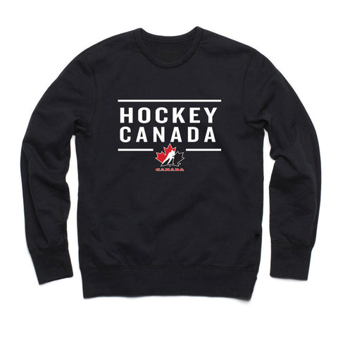 Team Canada Black Adult Crewneck Design 24 - teamcanada