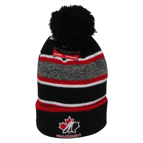 Team Canada Adult Embroidered Pom Toque - teamcanada