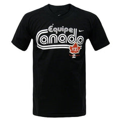 Team Canada Nike French Tee - Black - teamcanada