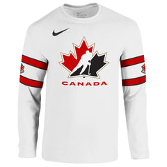 Team Canada Nike Cotton L/S White Replica Jersey - teamcanada - 1