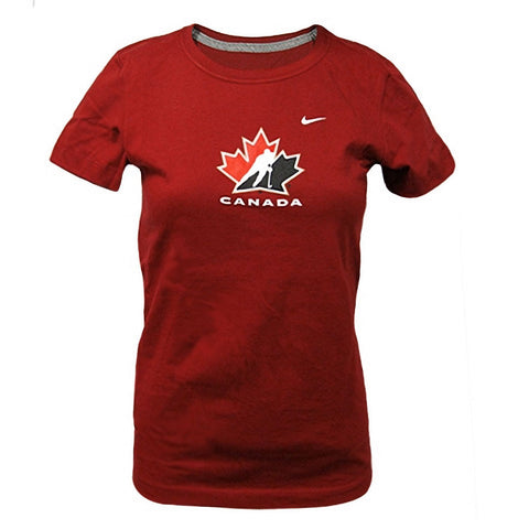 Team Canada Nike Women's Burgundy Tee - teamcanada