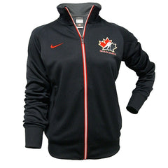 Team Canada Nike Women's C/S Track Jacket 1.3 - Black - teamcanada