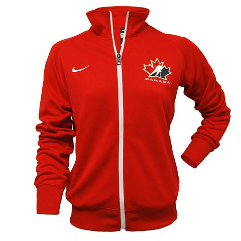 Team Canada Nike Women's C/S Track Jacket 1.3 - Red - teamcanada