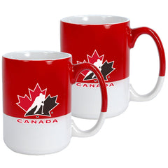 Team Canada 13.5oz. Red and White Varsity Mug - 2 Pack - teamcanada