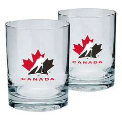 Team Canada 13.5oz. Rocks Glass - 2 Pack - teamcanada