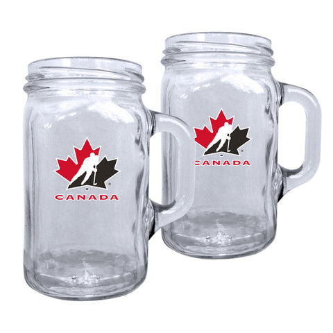 Team Canada 16.5oz Mason Mug - 2 Pack - teamcanada