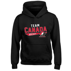 Team Canada Youth Black Hoodie - Design 25 - teamcanada
