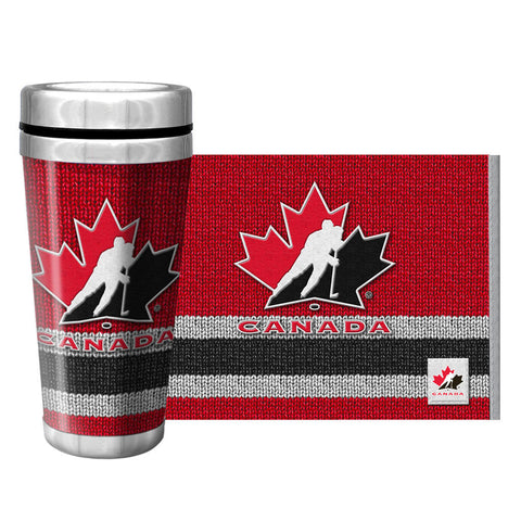 Team Canada 16oz Full Wrap Travel Mug Woolie Design - teamcanada