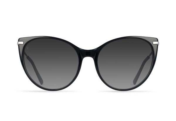 Birch Sunglasses in Black + Silver/Smoke Gradient by RAEN - Strut Shoes & Clothing