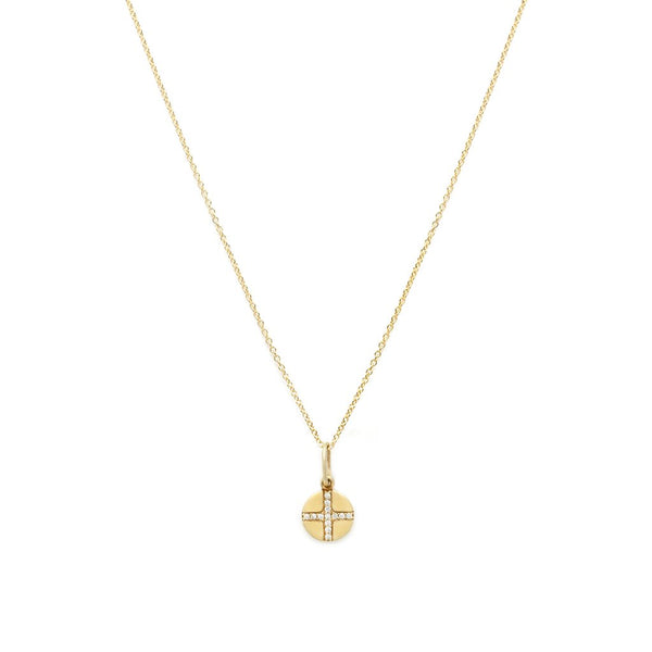 Seville Cross Coin Necklace in Gold