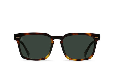 Adin Sunglasses in Kola Tortoise/Green Polarized