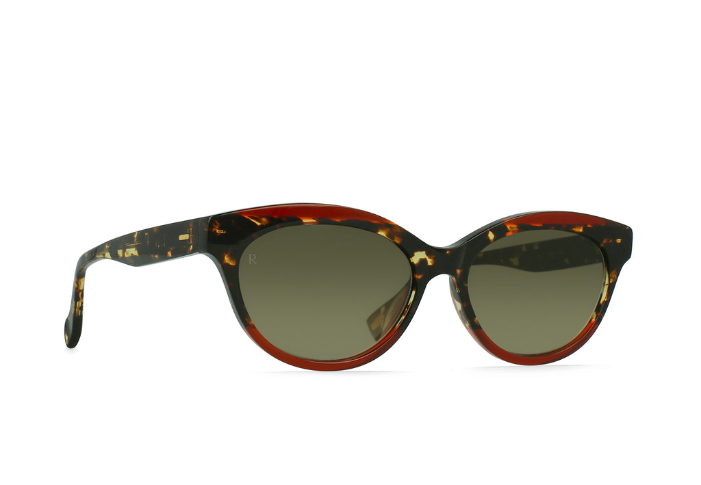 Blondie Sunglasses in Cherry Cola/Bottle Green Gradient Mirror