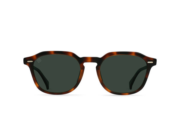 Clyve Sunglasses in Espresso Tortoise/Green Polarized