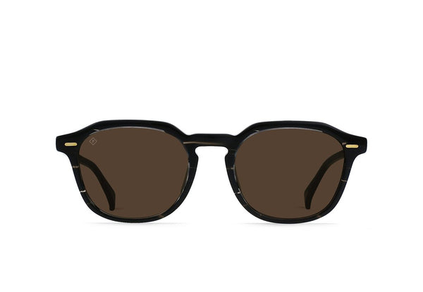 Clyve Sunglasses in Licorice/Vibrant Brown Polarized
