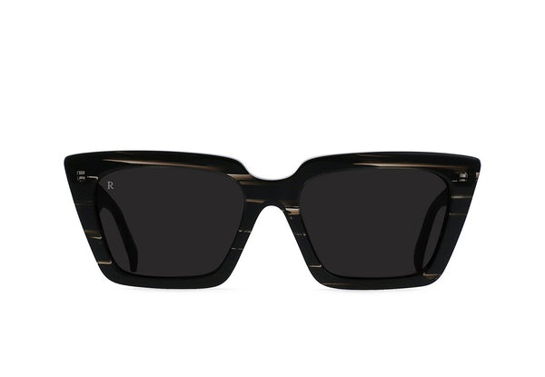 Keera Sunglasses in Licorice/Dark Smoke