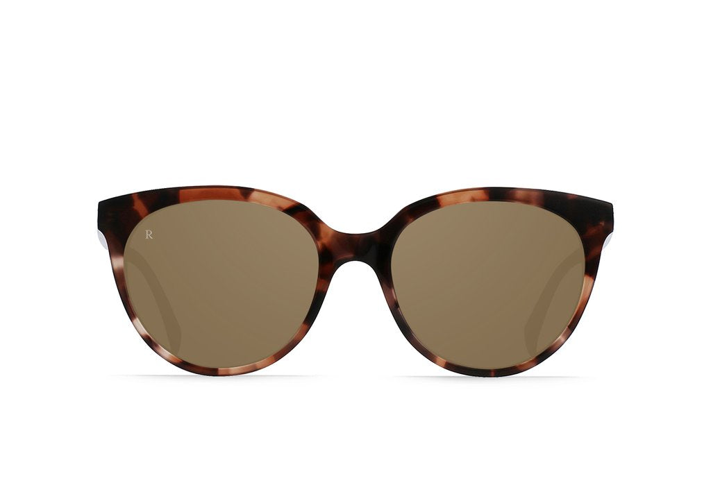 Lily Sunglasses in Almond Tortoise/Alpine Mirror