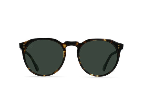 Remmy Sunglasses in Brindle Tortoise/Green Polarized