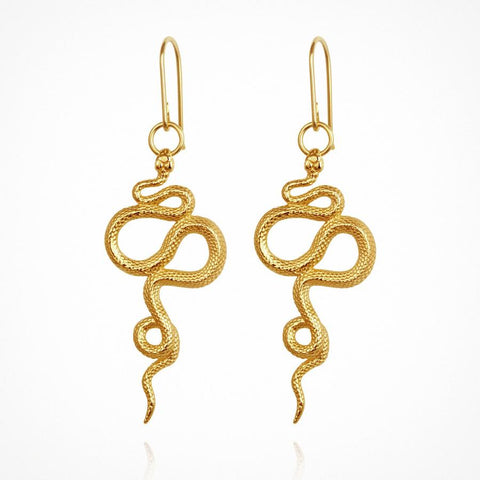 Snake Earrings in Gold