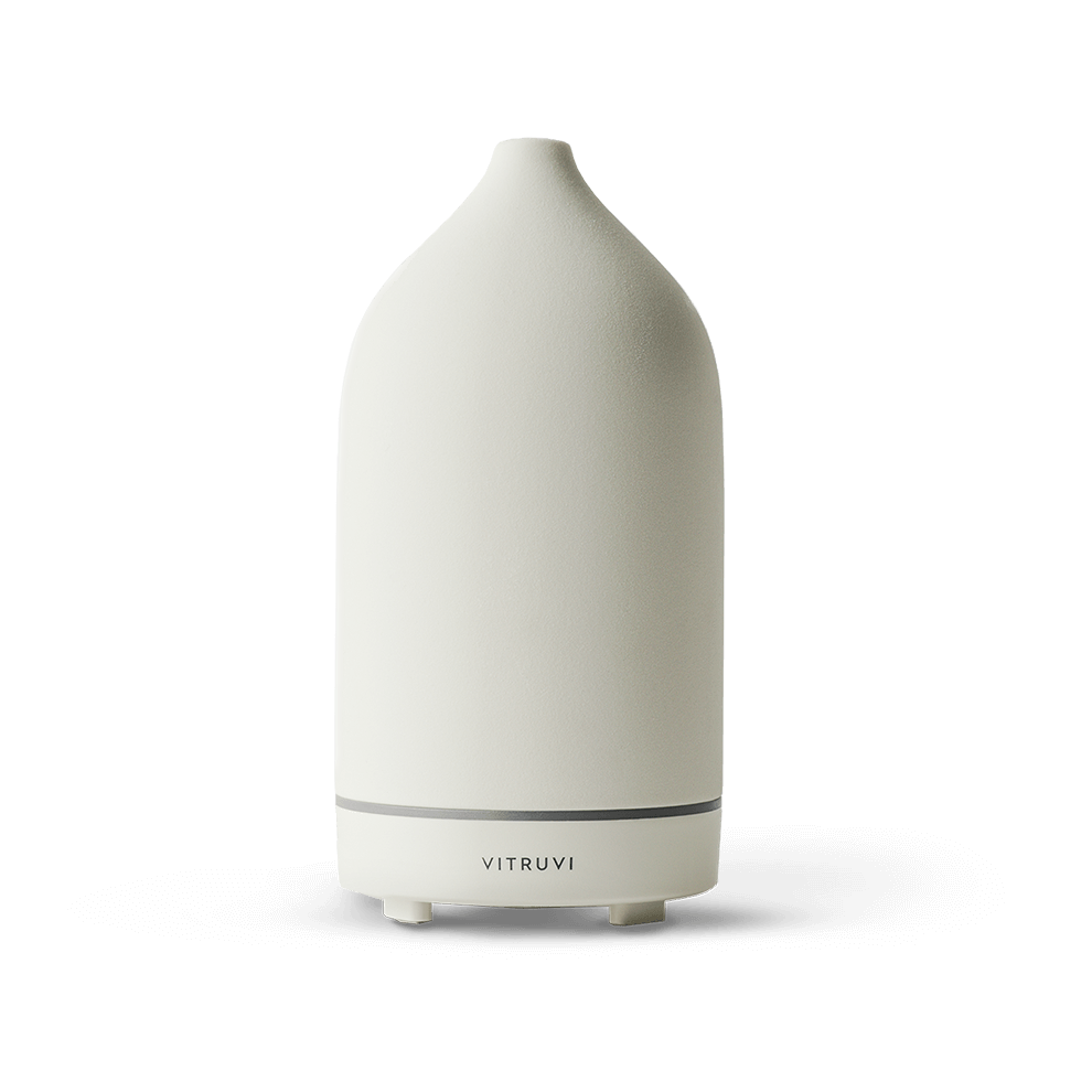 Stone Essential Oil Diffuser in White