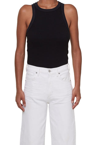 Isabel Rib Tank in Black
