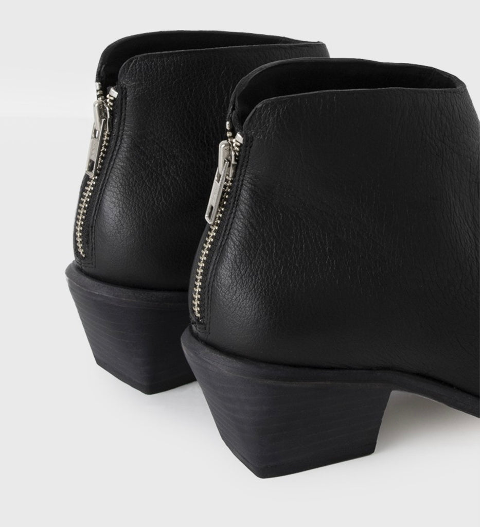 West Bootie in Black Calf