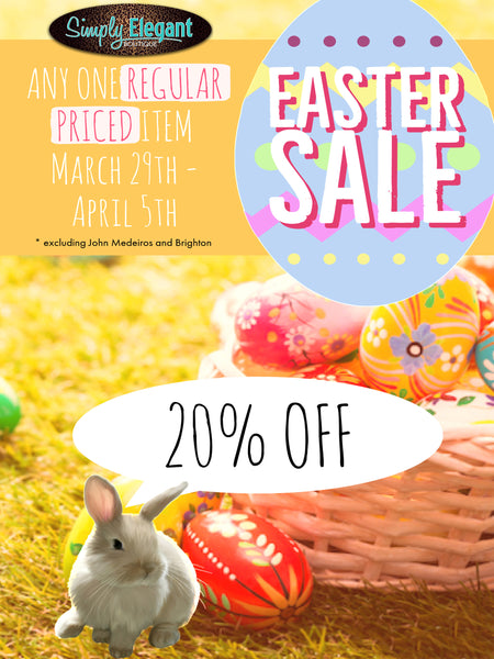 Easter Sale March 29th - April 5th 2018
