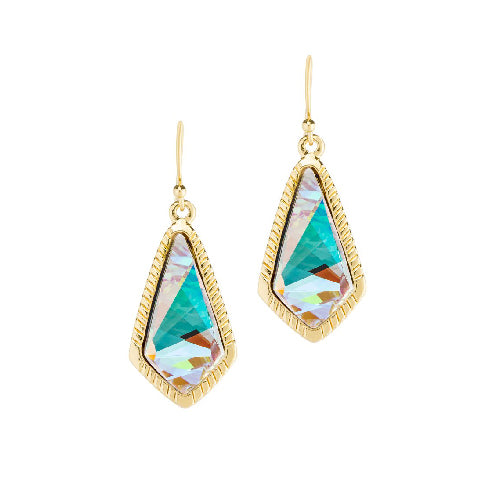 Luca + Danni | Sloane Statement Earrings In Crystal AB Gold