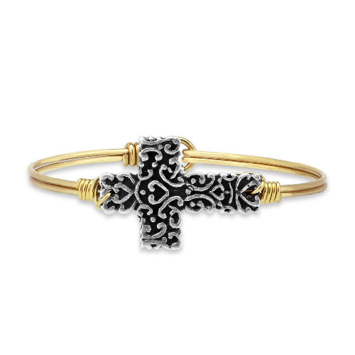 Luca + Danni | Ornate Cross Bangle Bracelet