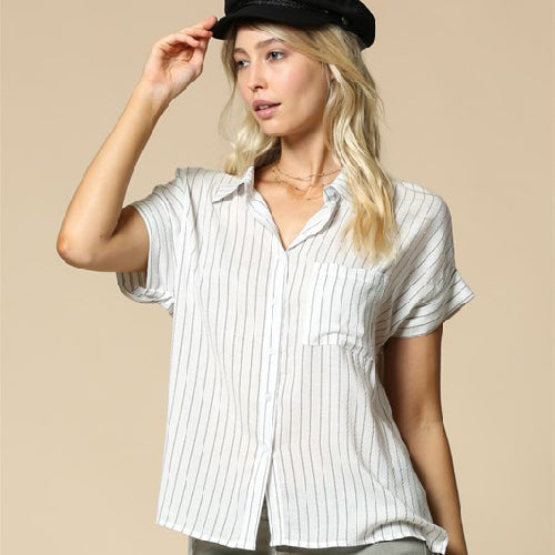By Together | Stripped Button Down Shirt