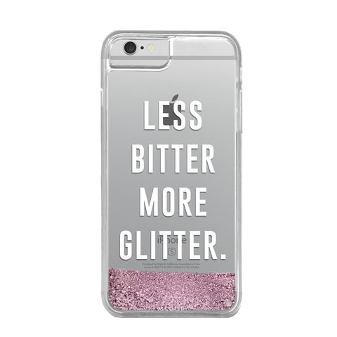 FUNDA GLITTER LESS BITTER