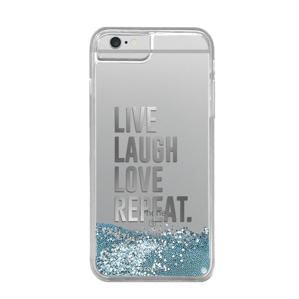 FUNDA GLITTER LIVE, LAUGH, LOVE