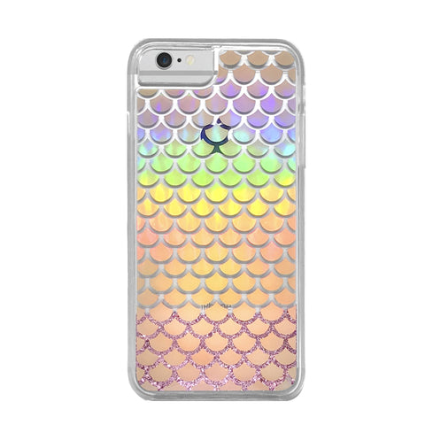 FUNDA GLITTER HOLOGRAPHIC MERMAID