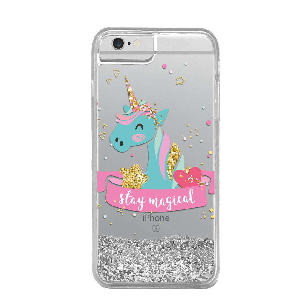 FUNDA GLITTER UNICORN