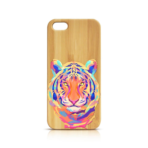 FUNDA BAMBÚ COLORFUL TIGER