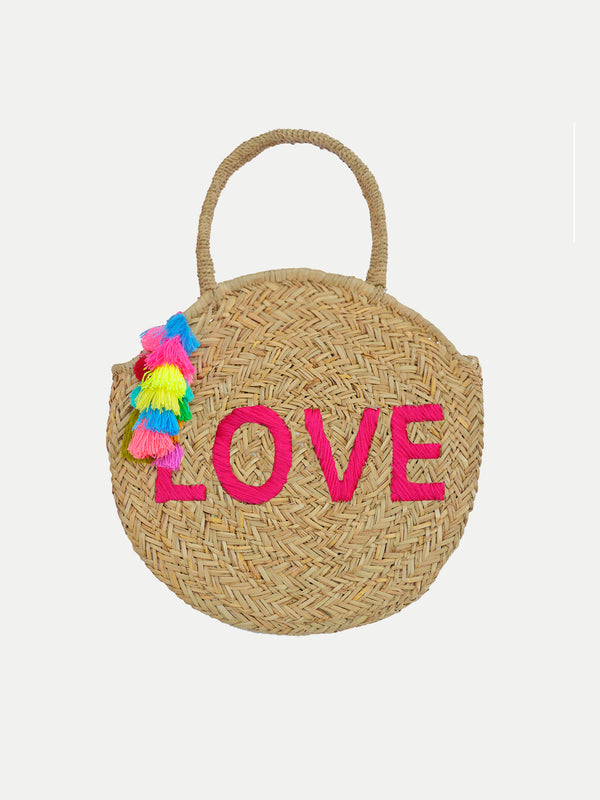 Bolso De Playa Redondo Love