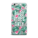 FUNDA FLORAL GOOD VIBES ONLY
