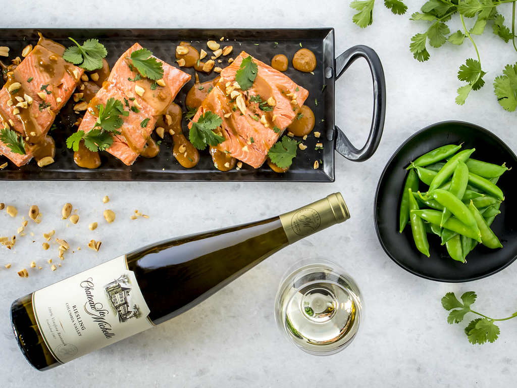 Instant Pot Wild Alaska Salmon with Peanut Sauce