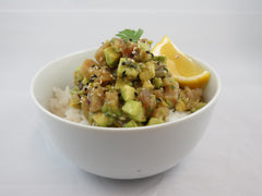 WFS albacore tuna poke bowl healthy