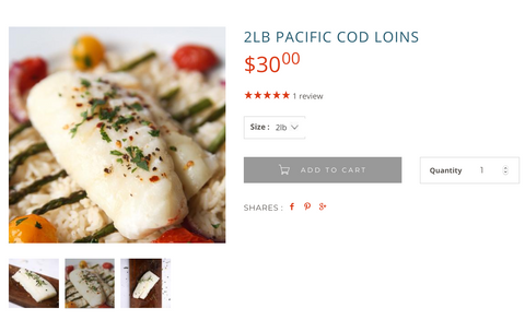 Wild for Salmon Wild Pacific Cod Loins