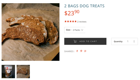 Wild for salmon dog treats