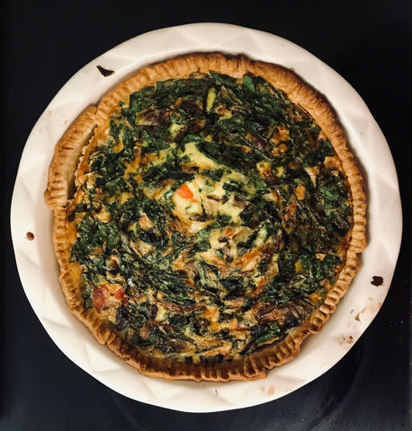 WFS smoked salmon quiche recipe