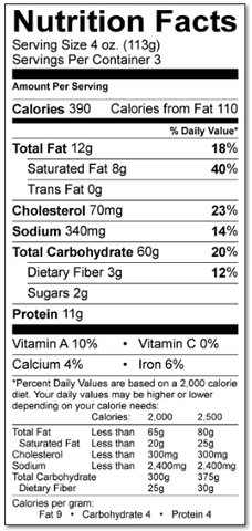 Captain's Blend Ravioli Nutrition Facts - Wild For Salmon